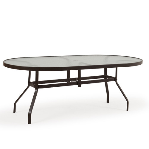 "Outer Banks 42"" X 76"" Oval Glass Top Dining Table"