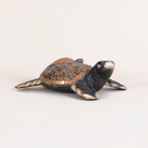 Indoor Mosaic Adult Turtle with Baby Turtle