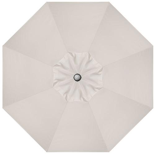 9' Crank Tilt Vanilla Umbrella with Anthracite Pole