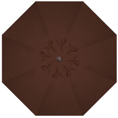 9' Crank Tilt Chocolate Umbrella with Bronze Pole
