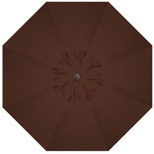 9' Crank Tilt Chocolate Umbrella with Bronze Pole