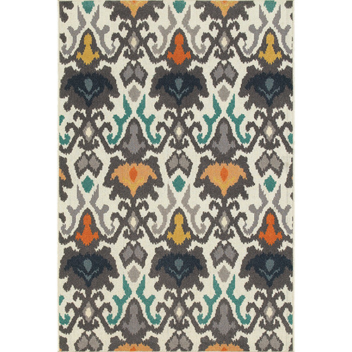 Hampton Indoor/Outdoor Multi-Color IKAT Rug
