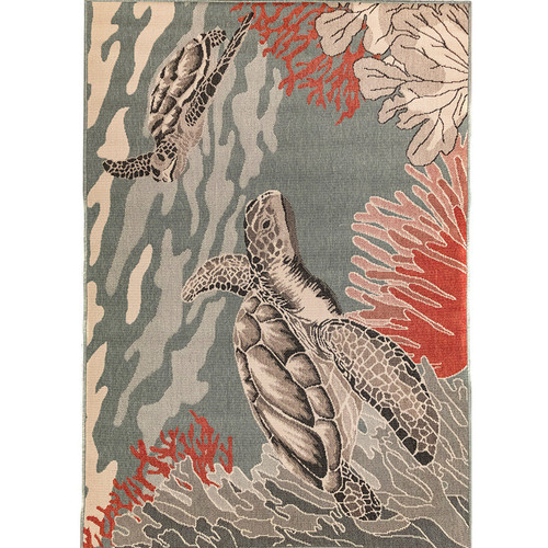 Riviera Indoor/Outdoor Sea Turtles Ocean Rug