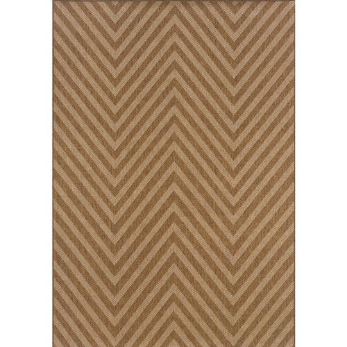 Karavia Indoor/Outdoor Chevron Neutral Rug