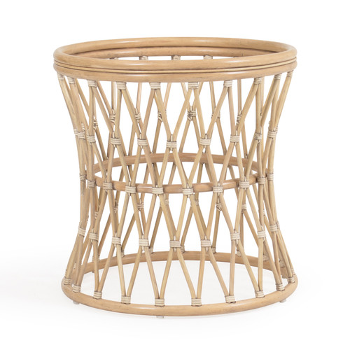 Tortuga  Rattan Round Table Base (Sun Bleached)