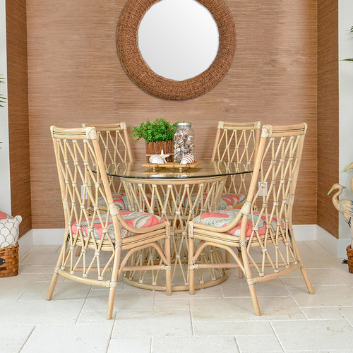 Tortuga Rattan Round Dining Table Base Only Leaders