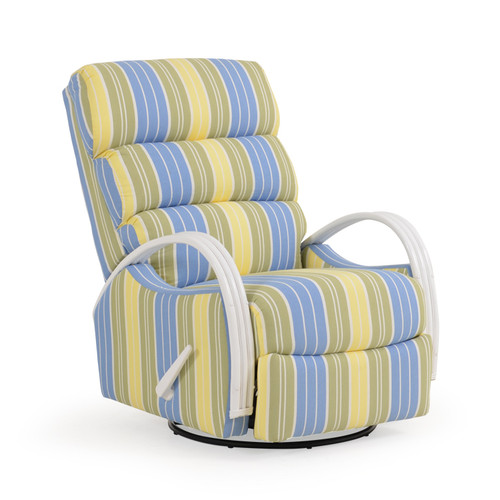 Venice Swivel Glider Recliner with Rattan Arms