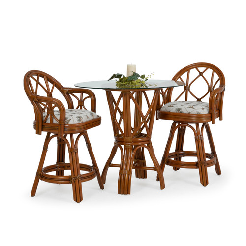Jamaica Indoor Rattan 3 Piece Counter Height Pub Set