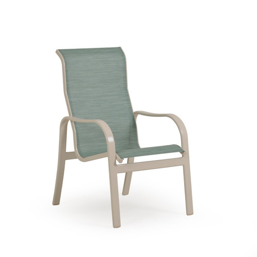Sand Key Outdoor High Back Sling Dining Chair