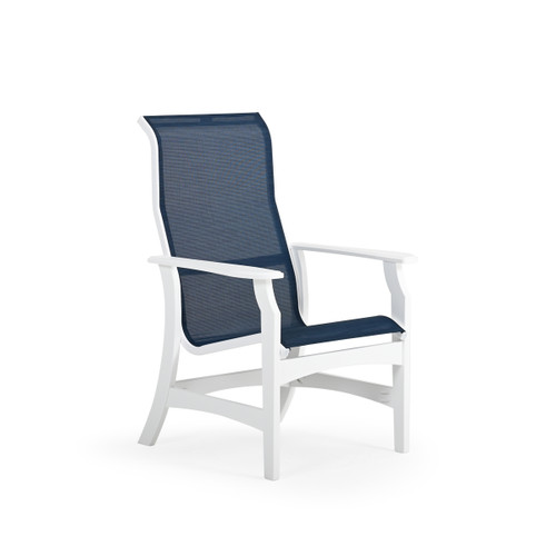 Tobago Outdoor Polymer High Back Sling Dining Chair