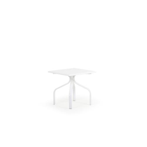 "Tobago Outdoor 19"" Square Polymer Tea Table"