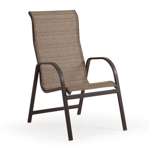 Outer Banks High Back Sling Dining Arm Chair