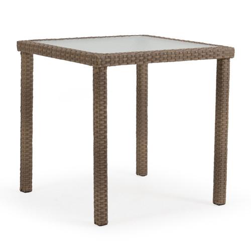 "Kokomo Outdoor 34"" Square Bar Table in Oyster Grey"