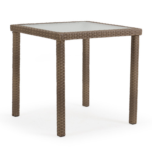 "Kokomo Outdoor 34"" Square Bar Table in Oyster Grey"
