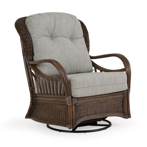 Islamorada Indoor Rattan High Back Swivel Glider