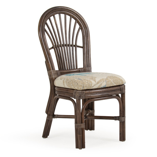 Islamorada Indoor Rattan Dining Side Chair (Espresso Finish)