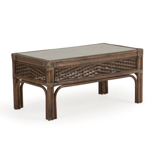 Islamorada Indoor Rattan Cocktail Table (Espresso Finish)