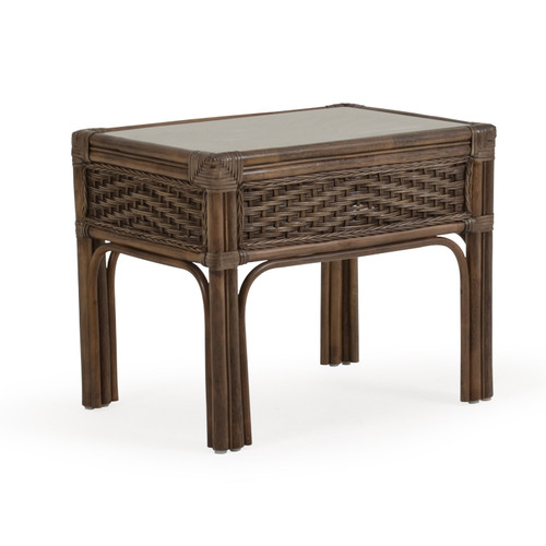 Islamorada Indoor Rattan End Table (Espresso Finish)