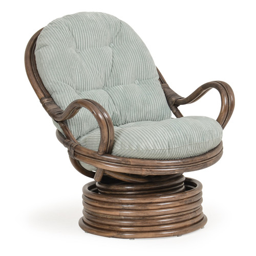 Islamorada Indoor Swivel Rocker with Cushion (Espresso Finish)