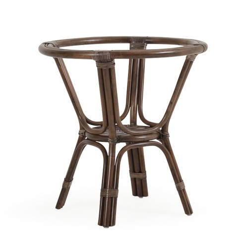 Islamorada Indoor Rattan Round Dining Table Base (Espresso Finish)