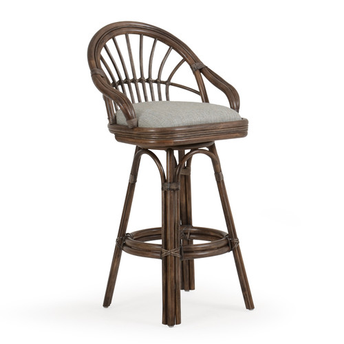 Islamorada Indoor Rattan Bar Height Stool (Espresso Finish)