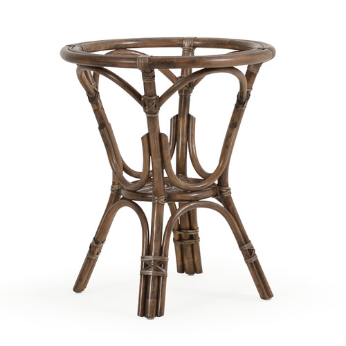 Islamorada Indoor Rattan Round Bistro Dining Base (Espresso Finish)