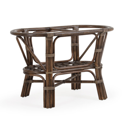 Islamorada Indoor Rattan Oval Strong Dining Base (Espresso Finish)