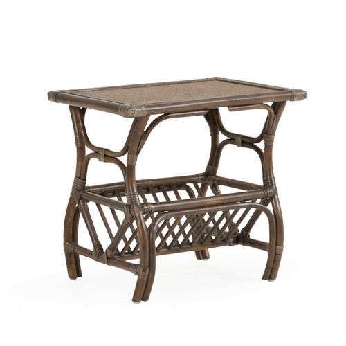 Islamorada Indoor Rattan TV Stand with Magazine Rack (Espresso Finish)