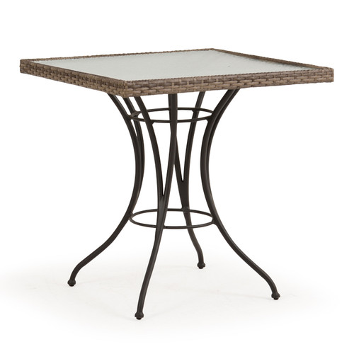 Garden Terrace Outdoor Square Wicker Square Bistro Table