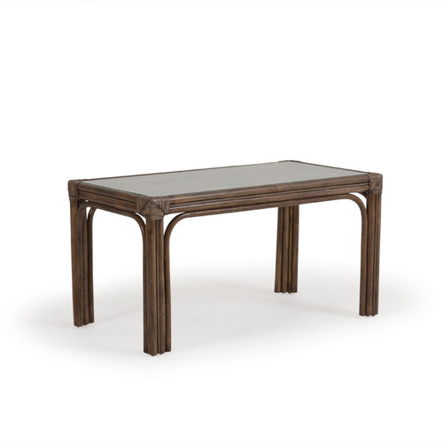 Islamorada Indoor Rattan Hassock Cocktail Table (Espresso Finish)