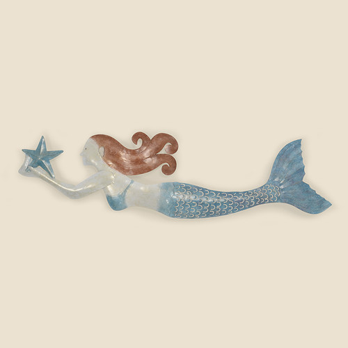 Indoor Mermaid with Brown Hair & Blue Tail