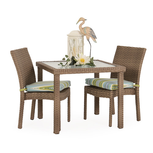 Kokomo Outdoor Stackable Armless 3 Piece Dining Set (Oyster Grey)