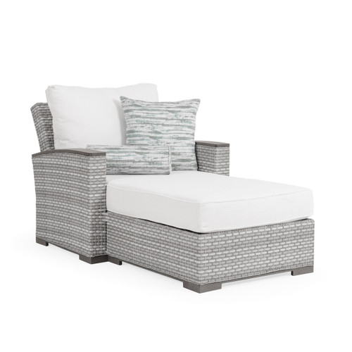 Retreat Outdoor Wicker Chaise and a Half