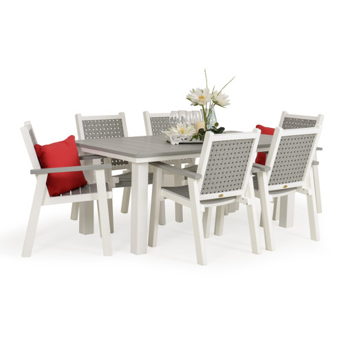 Marina Outdoor Poly Lumber 7 Piece Dining Set