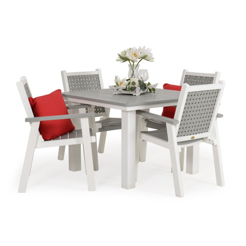 Marina Outdoor Poly Lumber 5 Piece Dining Set