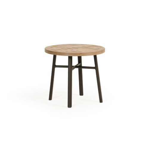 """Madeira Outdoor 20"""" Round PoliSoul Top Tea Table (Charcoal)"""