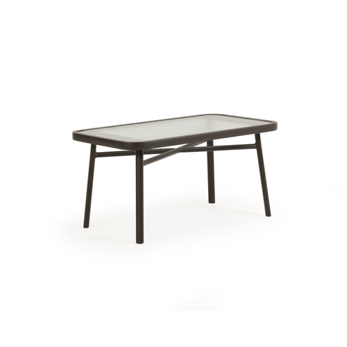 Madeira Outdoor Rectangle Glass Top Cocktail Table (Charcoal)