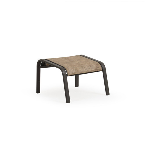 Madeira Ottoman in Charcoal with Sand Dune Sling