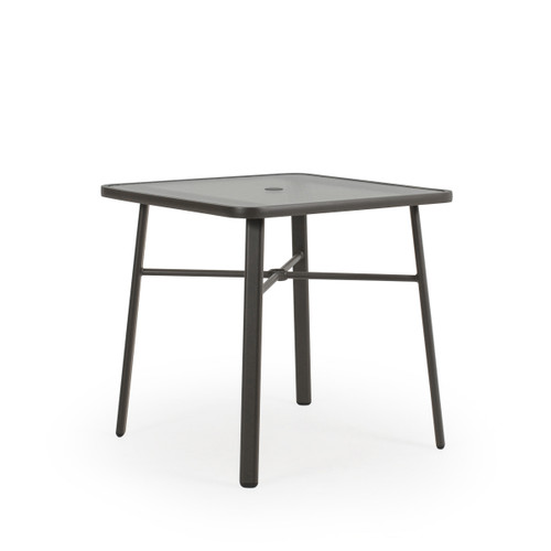 "Madeira Outdoor 36"" Square Glass Top Counter Height Table in Charcoal"