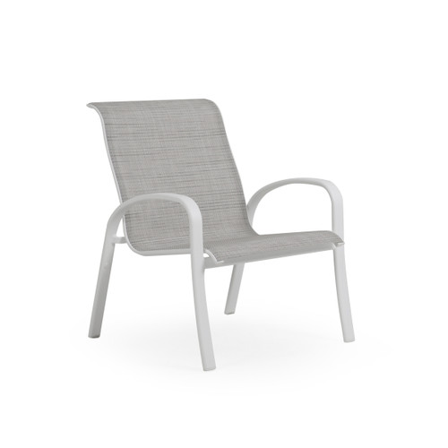 Madeira Club Chair in Textured White with Morning Mist Sling