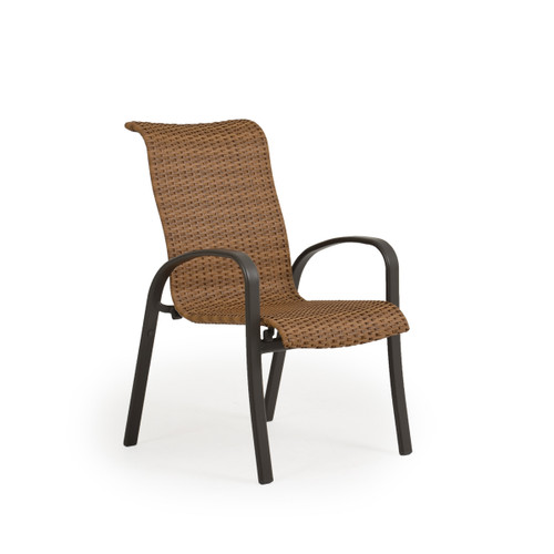 Madeira Woven Dining Chair in Charcoal Finish with Nutmeg Weave