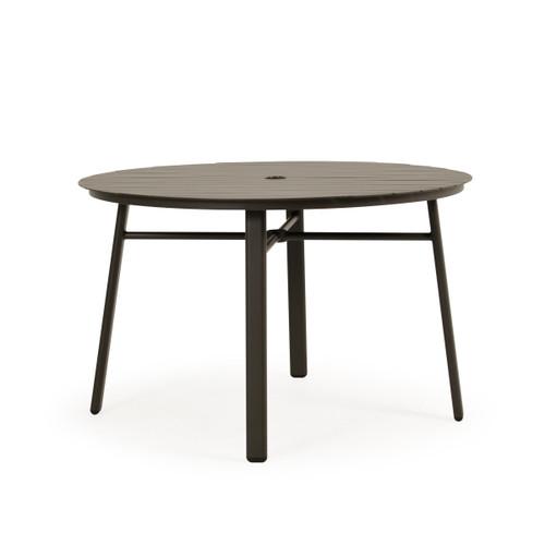 Madeira Aluminum Slat Table in Charcoal