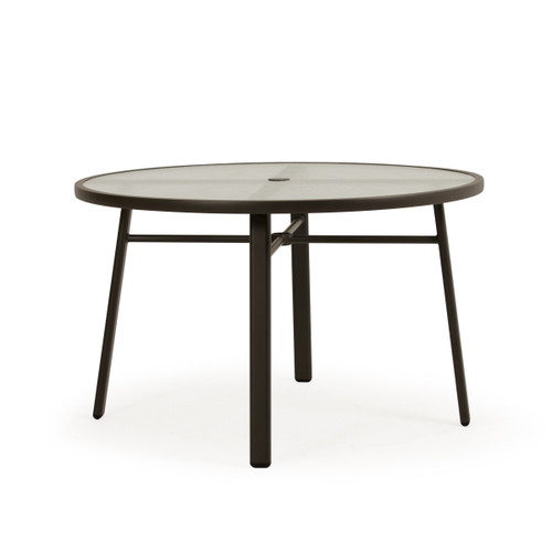 Madeira Glass Top Table in Charcoal