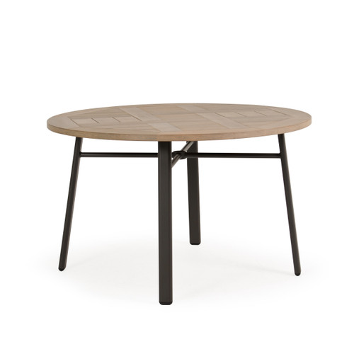 Madeira Round Dining Table with PoliSoul Top in Charcoal