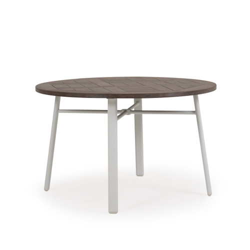 Madeira Round Dining Table with PoliSoul Top in Textured White