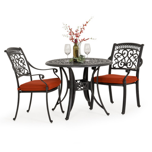 Charleston Outdoor Cast Aluminum 3 Piece Bistro Dining Set