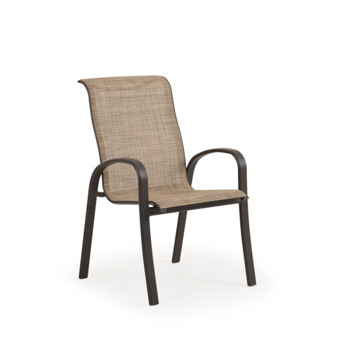 Madeira Sling Dining Chair in Charcoal Finish with Sand Dune Sling