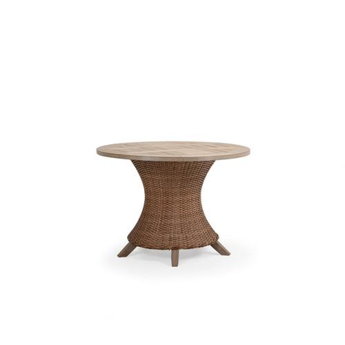 "Sanibel Outdoor Wicker 42"" Round Dining Table in Nutmeg"