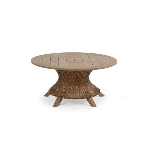 Sanibel Conversation Table in Nutmeg with Weathered Teak PoliSoul™ Table Top