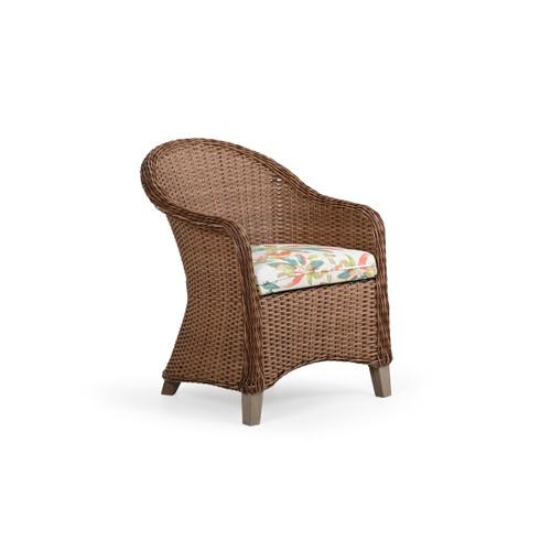 Sanibel Outdoor Wicker Dining Chair in Nutmeg